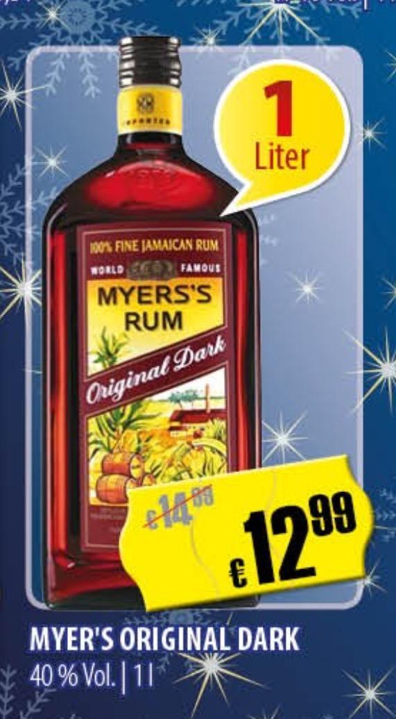 [Grenzgänger CZ]  Rum Myer's Original Dark 1,0 Liter