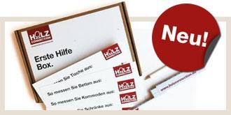"""Aufmaß-Box @ """"holzconnection.de"""" - kleiner Zollstock, Bleistift und Millimeterpapier"""