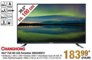 [METRO] Changchong 39,5 Zoll Full HD TV - LED40D2200ST2 - ab dem 22.12