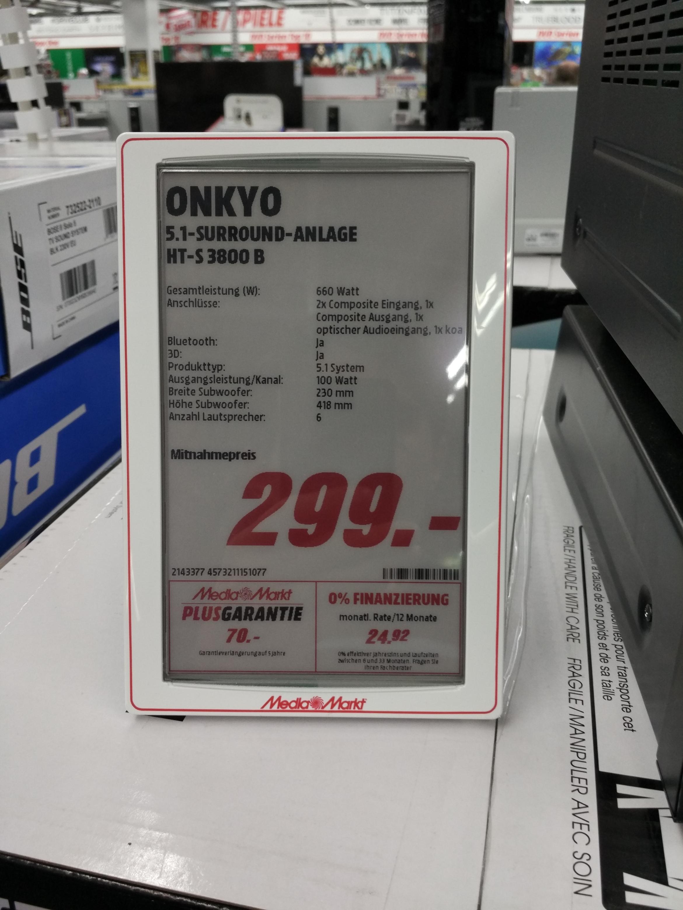 [Mediamarkt Dortmund] Onkyo HT-S3800B 5.1 Heimkino Receiver System
