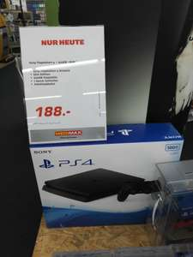 Playstation 4 für 188€ im MediMax Berlin Charlottenburg in den Wilmersdorfer Arkaden