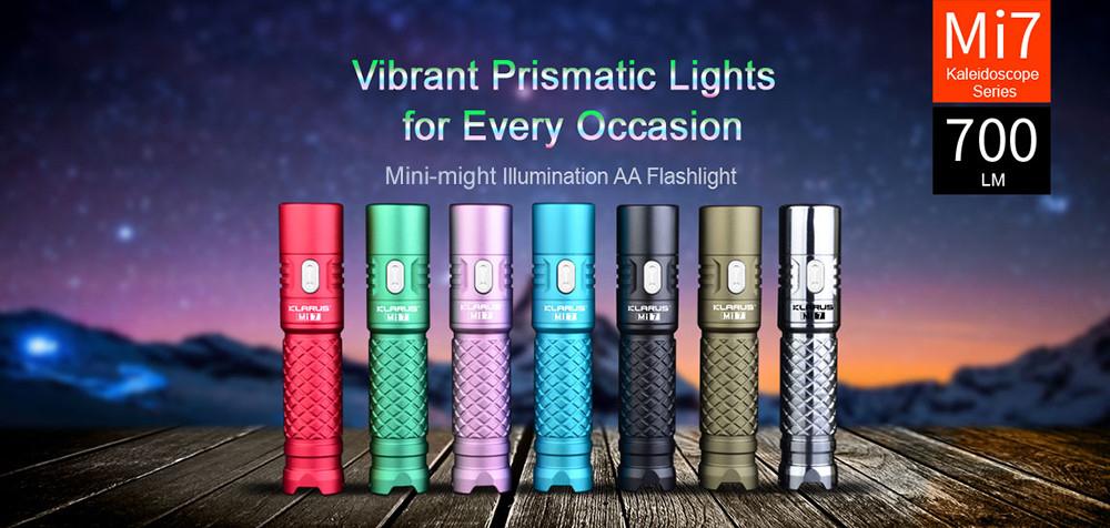 Klarus Mi7 Taschenlampe mit über 300 echten Lumen (AA-Batterie) oder etwa 700 Lumen (14500 Li-Ion)