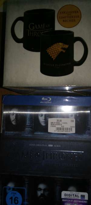Lokal Media Markt Eschweiler Game of Thrones Staffel 6 (bluray)  + gratis Tasse