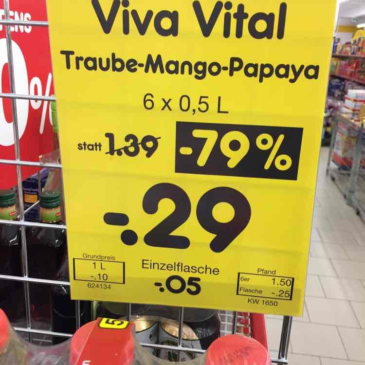 [Netto MD Berlin-Marienfelde] Viva Vital Traube-Mango-Papaya