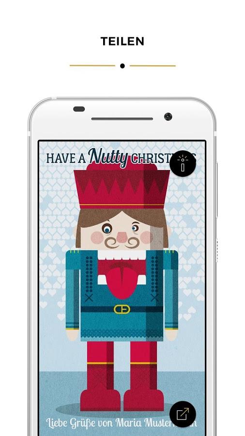 X-Mas Card Creator für Android & iOS (kostenlos + werbefrei + guter Zweck)