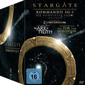Stargate Kommando SG-1 - Die komplette Serie (inkl. Continuum, The Ark of Truth) [61 DVDs]