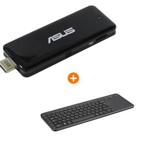 [notebooksbilliger.de] ASUS PC-Stick QM1-C006 Intel Atom x5-Z8300 + Microsoft wireless Tastatur - 4x1,44GHz, 2GB RAM, 32GB eMMC, Intel HD-Grafik, Win10