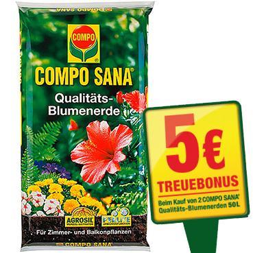 Compo Sana Blumenerde 50 Liter ab 5,48€ pro Sack