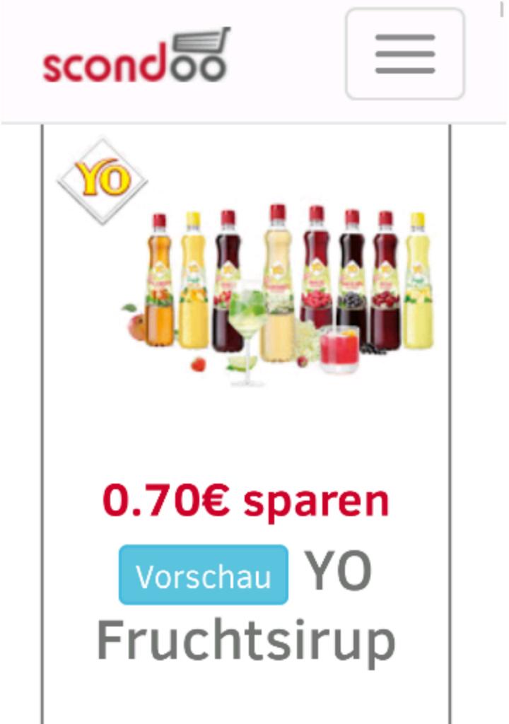 SCONDOO ADVENTSKALENDER LEAK - TÜR 20 - 0,70€ Rabatt auf YO Fruchtsirup