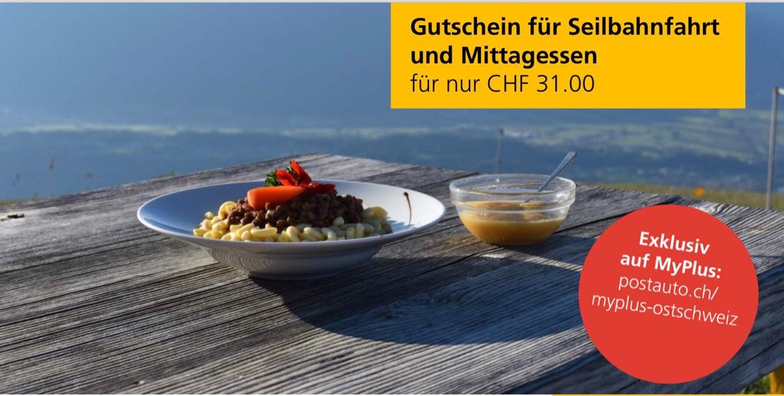 Wieder da 2018: Hoher Kasten Schweiz Ausflug und Essen auf 1795m CHF 31,- statt 53,-