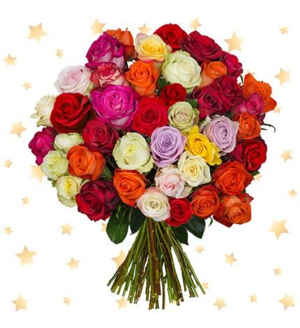 Blume Ideal: 39 XMAS Rosen - - mindestens 50cm länge -->  17,99 € statt 39,99 €  (4,95€ Versandkosten)