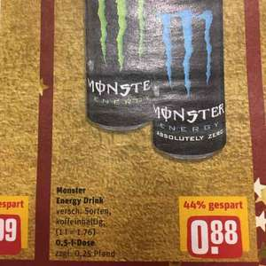[Lokal] Monster Energy für 0,88€!