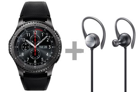 Samsung Gear S3 Frontier + Level Active für 364,21€ / Gear S3 Classic + Level U Pro für 371,79€
