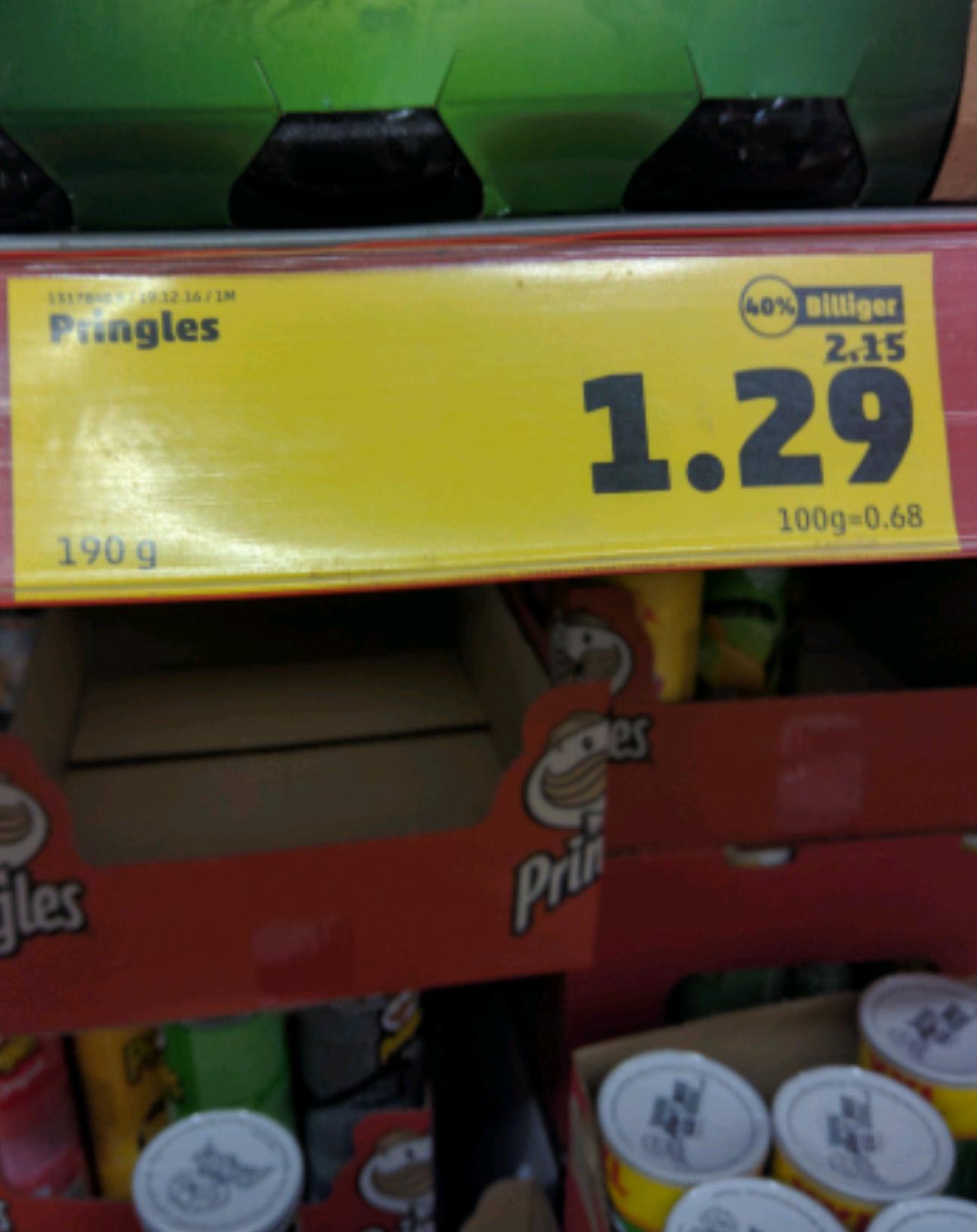 Pringles für 1,29 bei Penny , 2 Dosen gekauft ein HD Film geschenkt