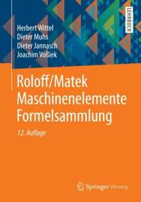Roloff/Matek Maschinenelemente: Formelsammlung (und andere)