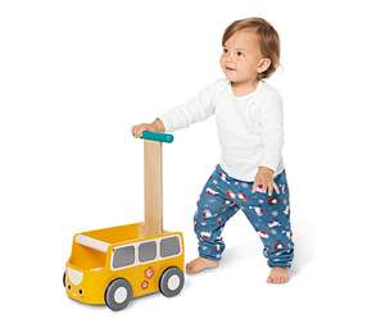 Lauflernwagen aus Holz für 33,99€, versandkostenfrei bei [Tchibo]