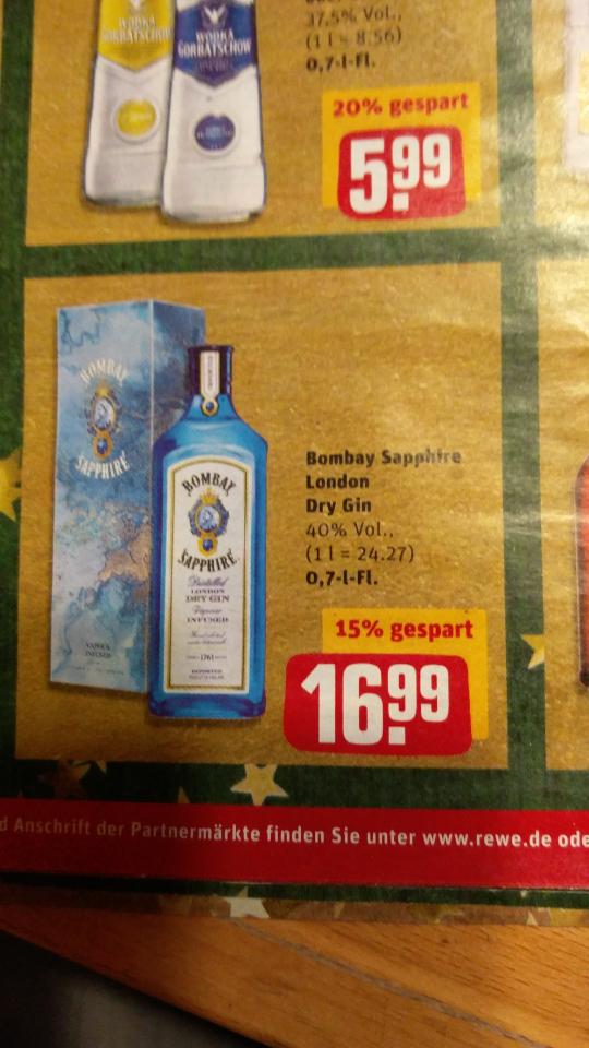 REWE Bombay Sapphire Gin