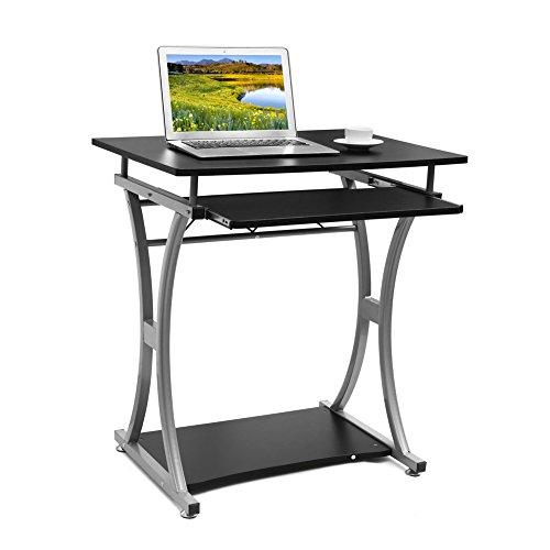 Einfacher Computertisch mit ausziehbarer Tastaturablage