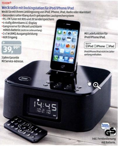 iPhone und iPod-Dockingstation für 39,99 Offline @ Aldi-Süd ab 04.06