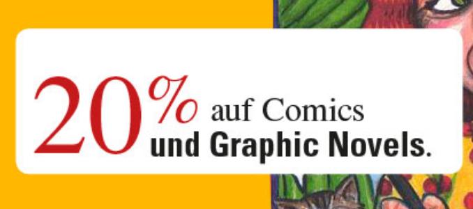 20 Prozent auf Comics und Graphic Novels (Mängelexemplare) @zweitausendeins.de