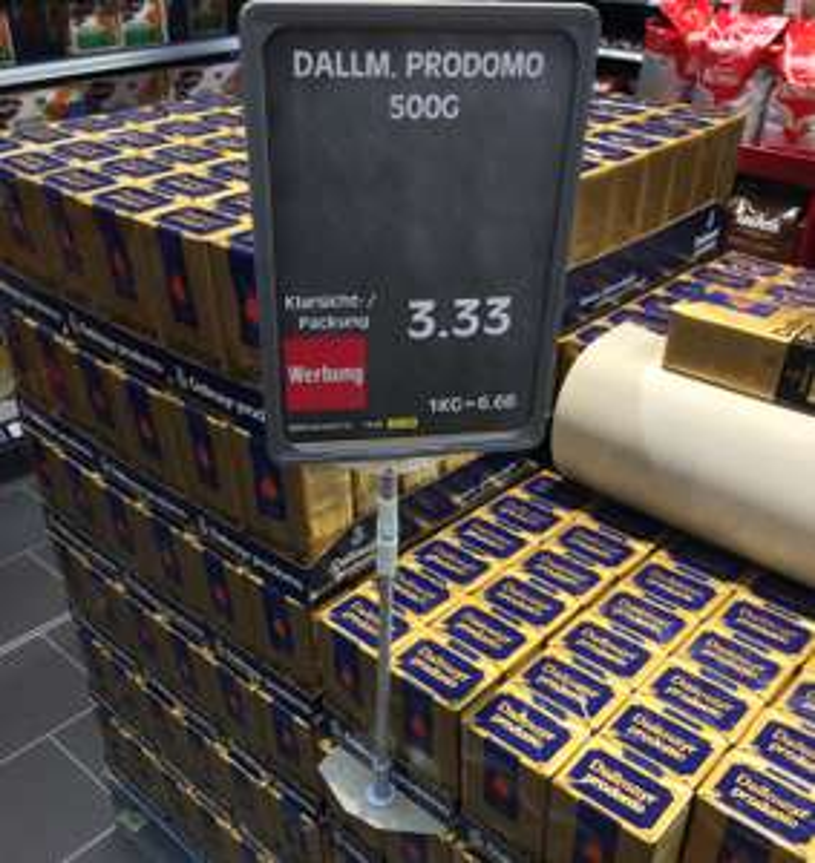 [EDEKA München] Dallmayr Prodomo Kaffee 500g (ganze Bohnen oder gemahlen) für 3,33 EUR