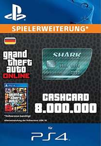 Grand Theft Auto V + CashCard 'Megalodon' im Bundle für 39,99 statt 123,99