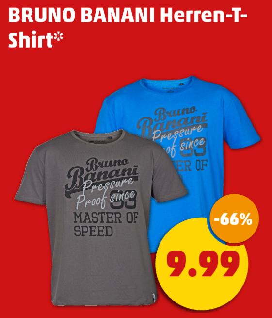 [Penny] Bruno Banani Herren Shirt (9,99 Euro), 2er Packung (12,99 Euro) oder Herren-Sweatjacke/-Sweatshirt (19,99 Euro) ab Donnerstag 22.12