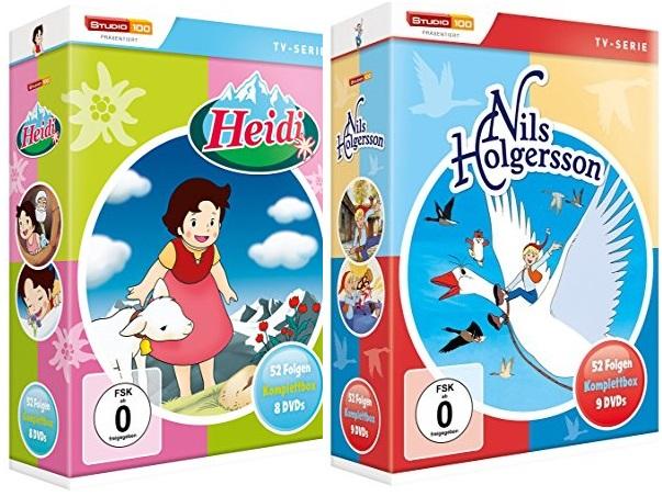 [Amazon Prime] Heidi - TV-Serien Komplettbox [8 DVDs] ->14,97€ und Nils Holgersson - Komplettbox [9 DVDs] -> 17,97€