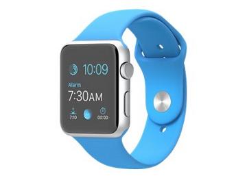 [Metacomp] Apple Watch Sport, 42 mm, Aluminium, Silber, intelligente Uhr mit Sportband, Blau, Größe S/M/L, Wi-Fi, Bluetooth, 30 g)