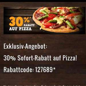 30% auf dominos Klassik pizza
