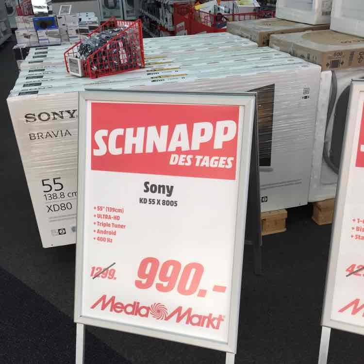Sony KD 55 X 8005 [Lokal Mediamarkt Lippstadt]