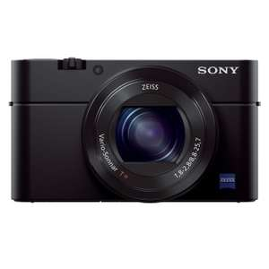 Sony DSC-RX100 III Digitalkamera (20.1 Megapixel Exmor R Sensor, 3-fach opt. Zoom, 7,6 cm (3 Zoll) Display, Full HD, WiFi/NFC) schwarz für 525,94€ @Amazon.fr