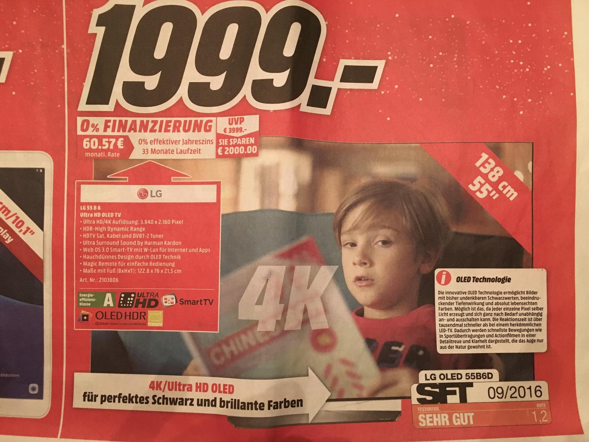 Lokal Media Markt HH LG 55 B6D OLED 4K TV
