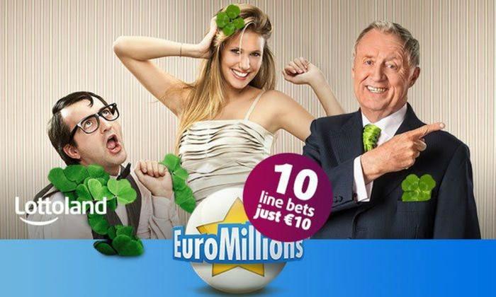 Lottoland.ie: 10 Tippfelder Euromillions für 10 € statt 22 € (Neu- und Bestandskunden)