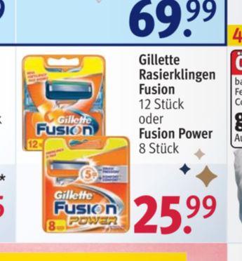 Gillette Fusion Klingen 12er XXL Pack - Rosmann (Offline / Bundesweit)