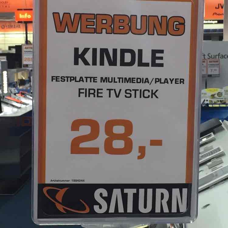 (Lokal) Saturn Arkarden Münster Amazon Fire TV Stick