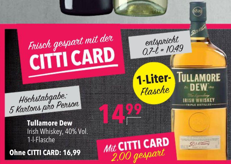 Tullamore Dew™ - Irish Whiskey 1,0 Liter für €14,99 [@Citti]
