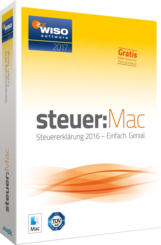 WISO steuer:Sparbuch 2017 PC/Mac (CD-Version) oder WISO steuer:Mac 2017 (CD-Version) für 19,99€