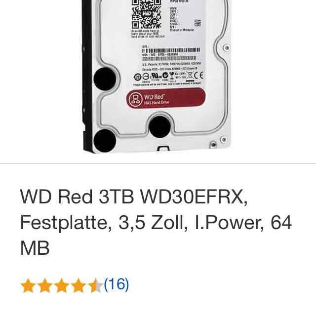 WD RED 3TB für 102,79€ inkl. Versand (eBay; Redcoon)
