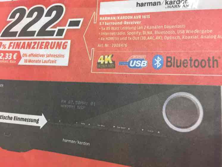 """""""Abgelaufen""""Harman Kardon AVR 161S """"Local in Belm"""" für 222€"""