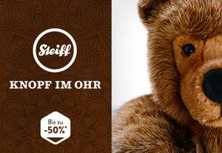 """Steiff """"Knopf im Ohr"""" bis zu 50% reduziert bei brands4friends"""
