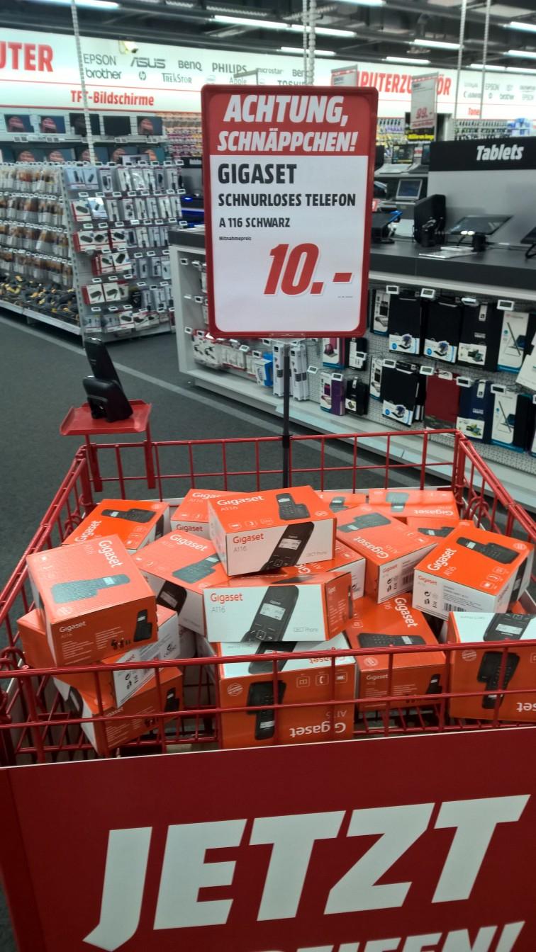 [Mediamarkt Oststeinbek] Schnurloses DECT-Telefon Gigaset A116 für 10€