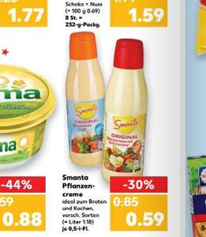 Kaufland ab Donnerstag  Smanta Original Pflanzencreme mit Buttergeschmack oder Diät 500ml