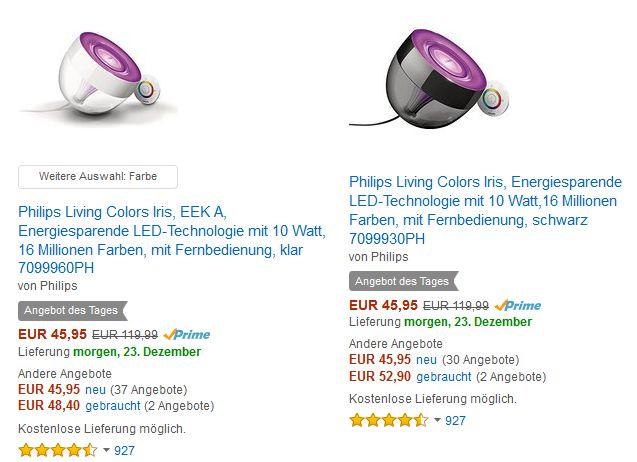 [Amazon Tagesangebot] Philips Living Colors Iris - ,,klar'' oder ,,schwarz''