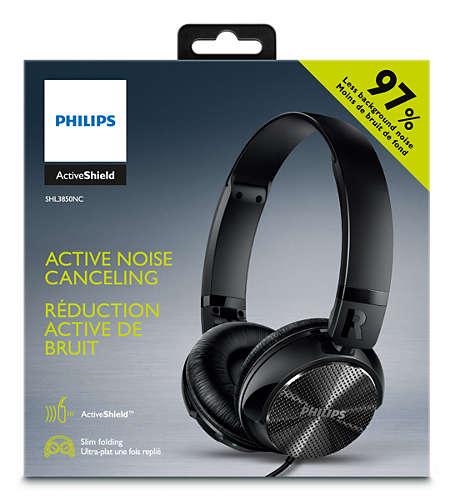 [Kaufland] Philips SHL3850NC Kopfhörer mit Geräuschreduzierung (ANC), kabelgebunden, faltbar