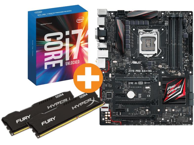 [Saturn.at - Österreich] [wieder verfügbar!] ASUS Z170 Pro Gaming + Intel® Core™ i7-6700K + HyperX Fury 16GB DDR4, 2133 MHz für Endpreis 499€ statt € 617,38 (40€ Cashback + 5€ Gutschein)