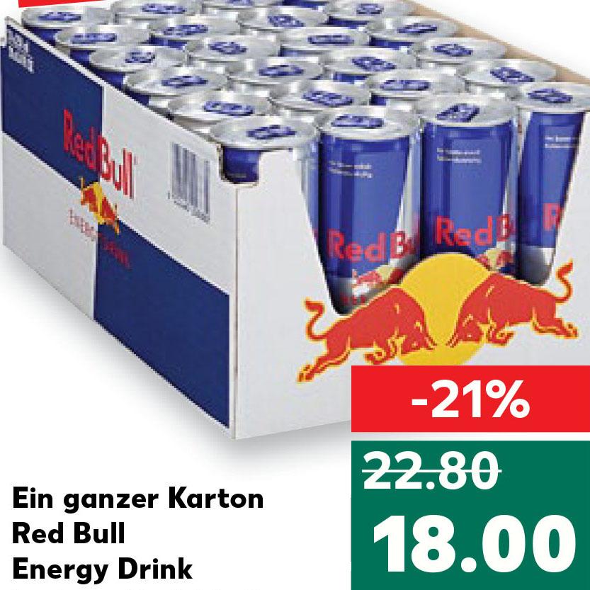 Red Bull 24 Dosen für 18€ das sind nur 75 Cent pro Dose [Kaufland]