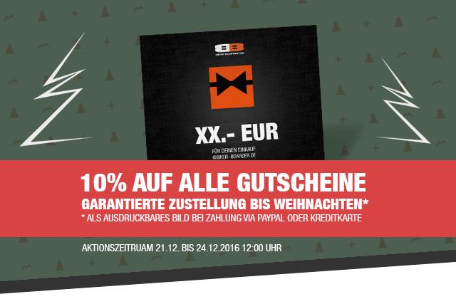 10% Rabatt auf Gutscheine bei biker-boarder.de