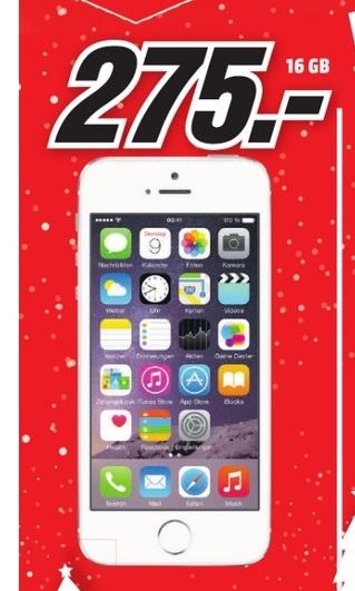 [Lokal MediaMarkt Trier] Apple Iphone 5s - 16GB - alle Farben für 275,- €