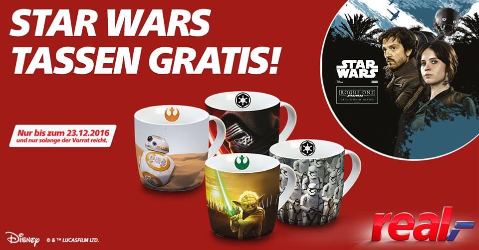 REAL - 4 Star Wars Tassen GRATIS